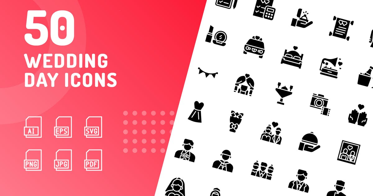 Download Wedding Day Glyph Icons by kerismaker