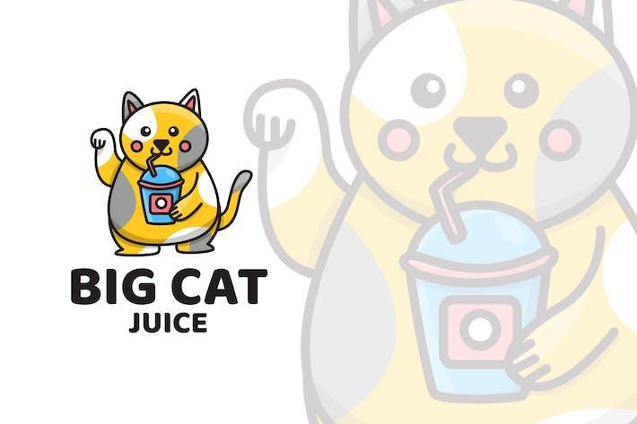 Thumbnail for Big Cat Juice Logo Template