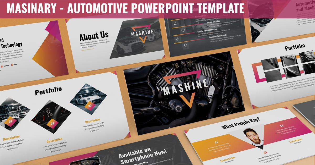 Download Masinary - Automotive Powerpoint Template by SlideFactory