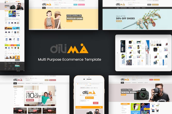 Cover Image For Dilima - Mega Store Responsive Prestashop Theme