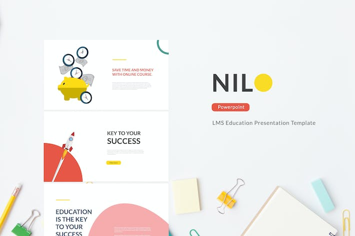 Thumbnail for Nilo - LMS Education Powerpoint Template