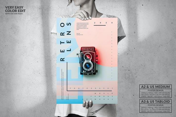 Thumbnail for Retro Lens Exhibition - Big Poster Design