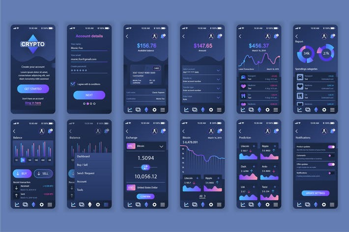Thumbnail for Cryptocurrency Mobile App UX and UI Kit