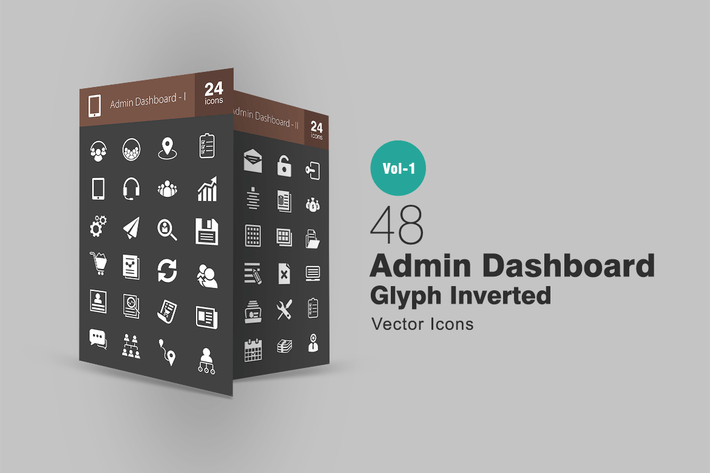Thumbnail for 48 Admin Dashboard Glyph Inverted Icons