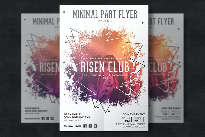 Thumbnail for Minimal Party Flyer