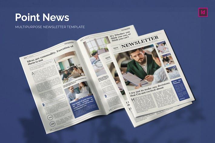 Thumbnail for Point News - Newsletter Template