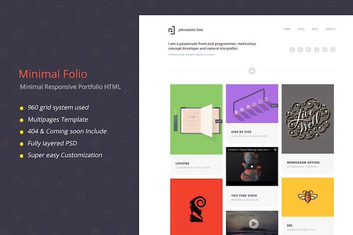 Thumbnail for Minimal Folio - Responsive Portfolio Template