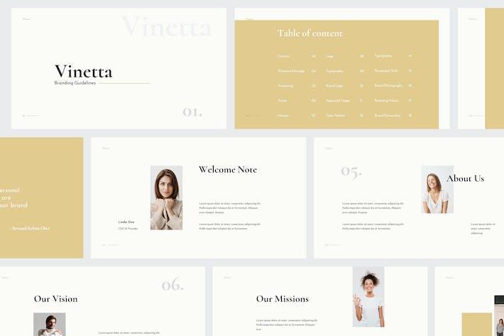 Thumbnail for Vinetta Brand Guidelines Powerpoint Template