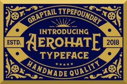 Aerohate Typeface
