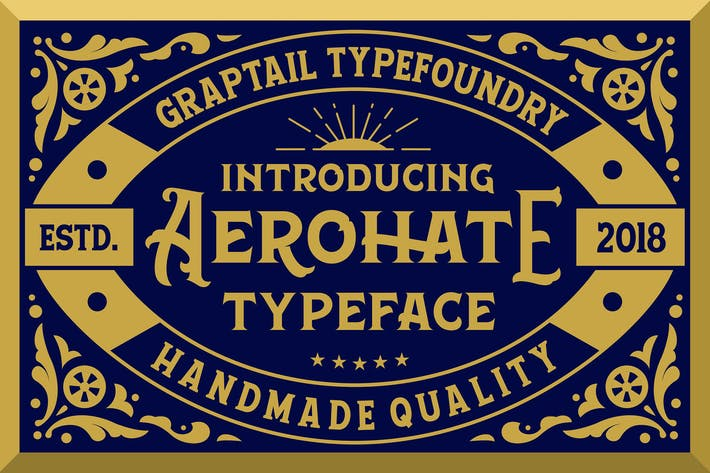 Thumbnail for Aerohate Typeface