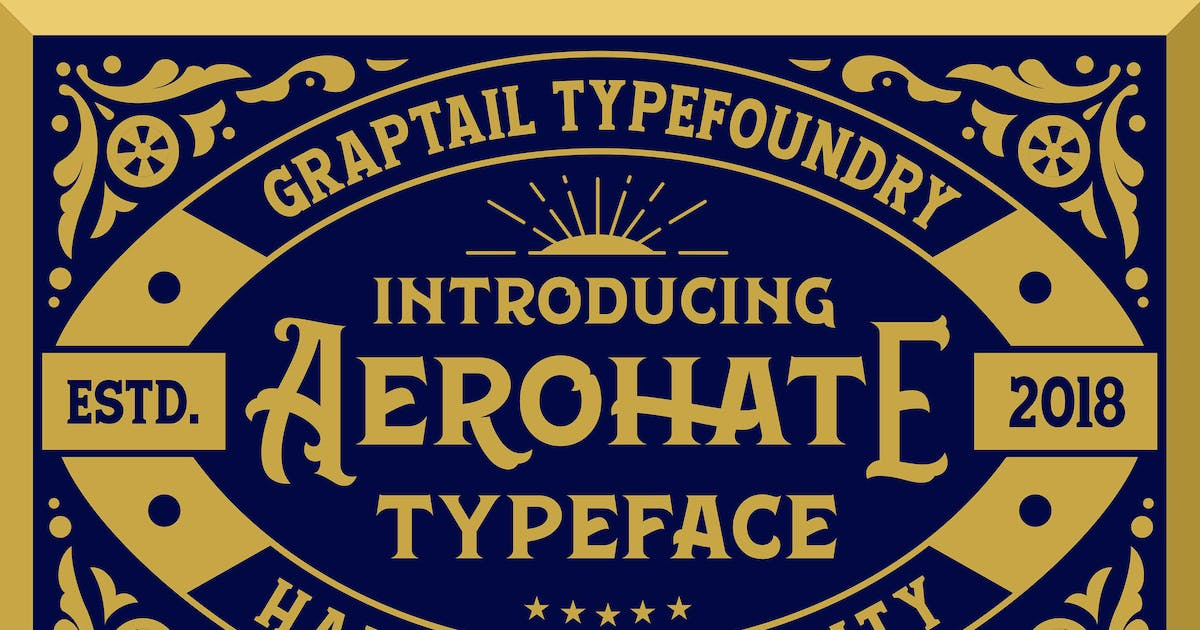 Download Aerohate Typeface by graptailtype