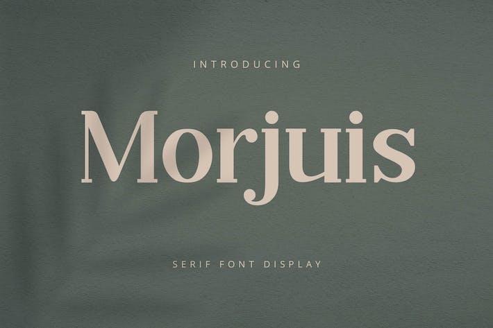 Morjuis - Police à Serif tement