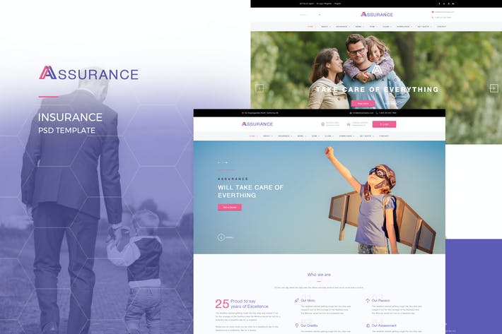 Thumbnail for Assurance - Insurance PSD Template