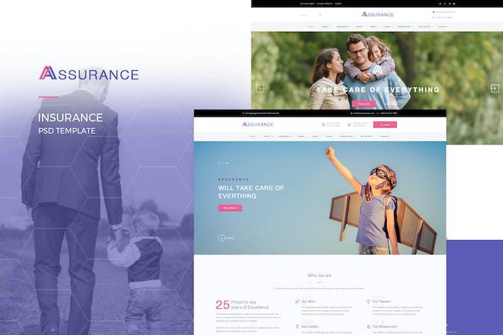 Thumbnail for Assurance - Plantilla PSD de Seguros