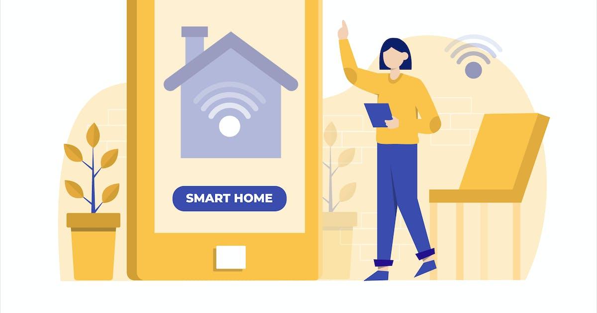 Download Smart Home App Flat Vector Illustration by StringLabs