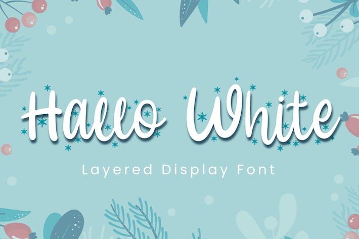 Thumbnail for Hallo White - Police de calligraphie