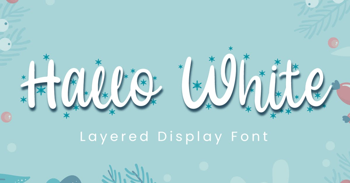 Download Hallo White - Calligraphy Font by Attype-Studio