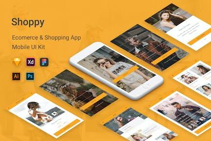 Shoppy - Ecommerce Mobile App UI Kit
