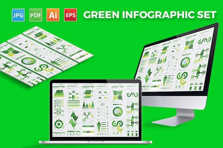 Thumbnail for Diseño de Infografía verde grande