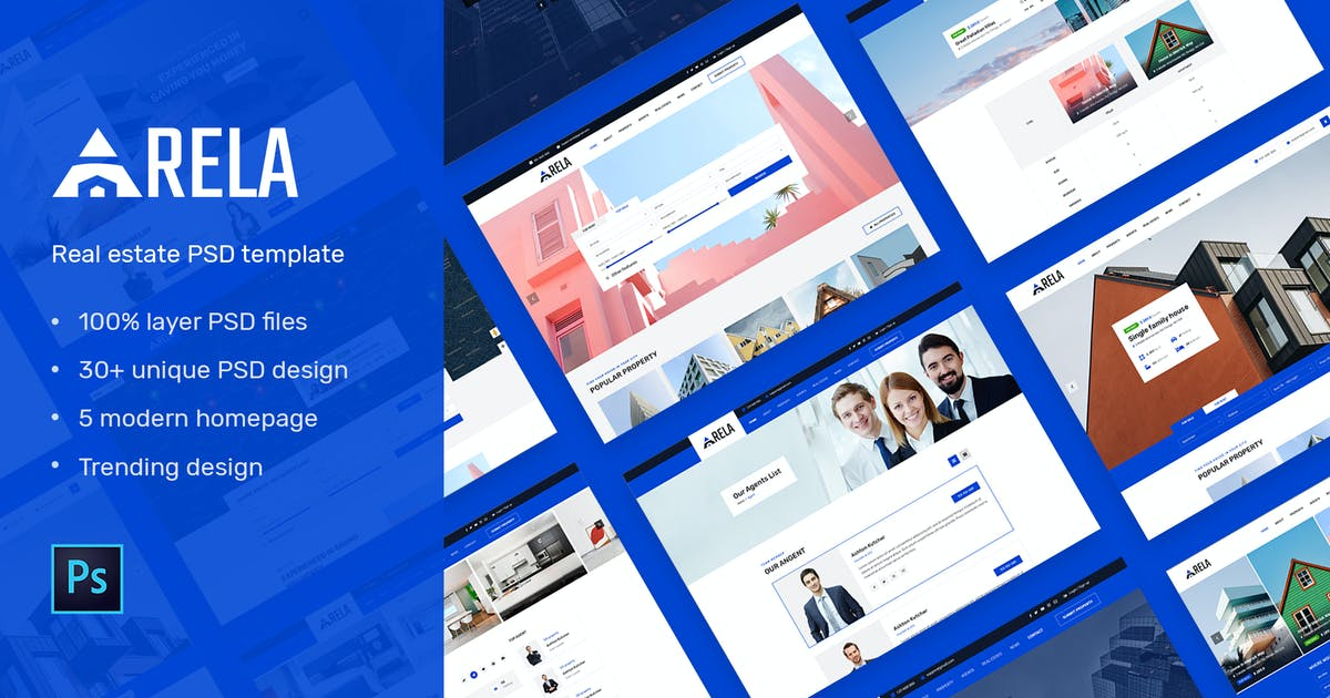 Download Arela | Real Estate PSD Template by Leonard_Design