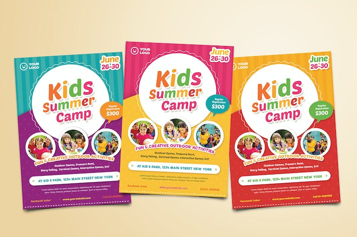 Thumbnail for Kids Summer Camp Flyer 02