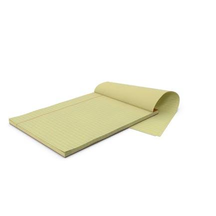 Blank Yellow Legal Pad