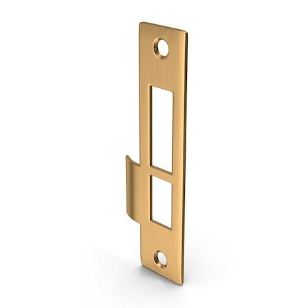 Door Lock Strike Plate Golden