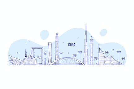 Skyline de Dubai, Émirats arabes unis, Émirats arabes unis