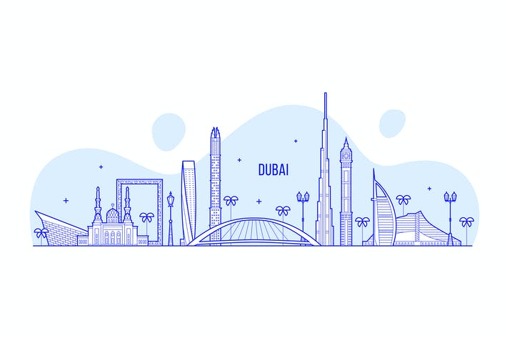 Thumbnail for Dubai skyline, Arab Emirates, UAE