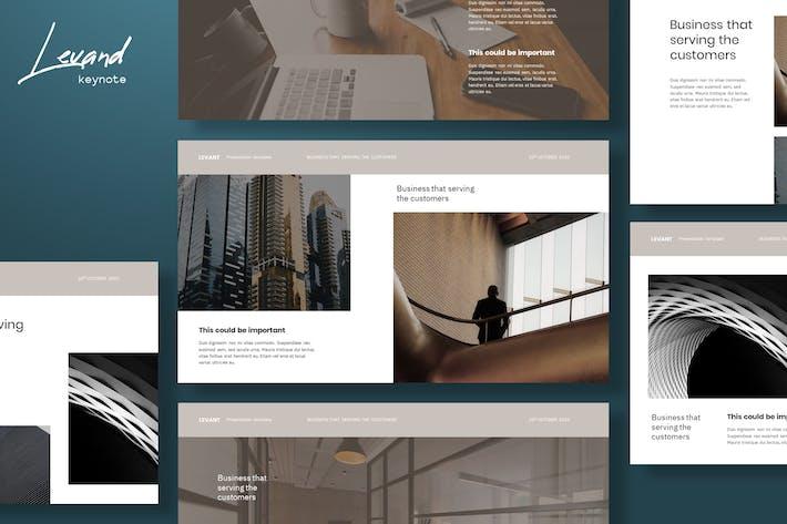 Levant - Шаблон Keynote архитектуры
