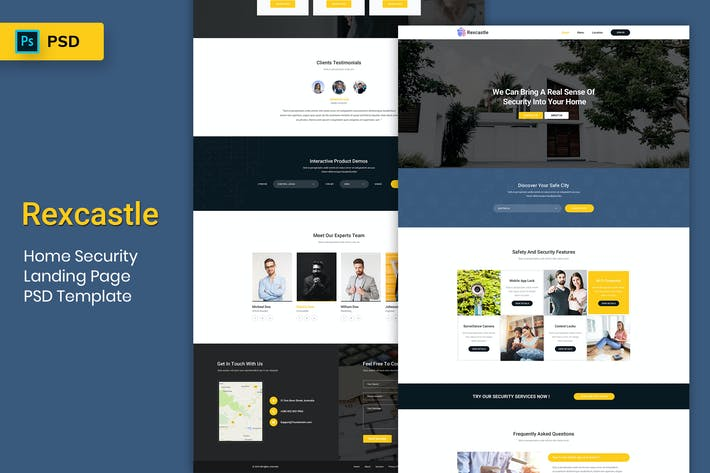 Cover Image For Home Security - Landing Page PSD Template-02