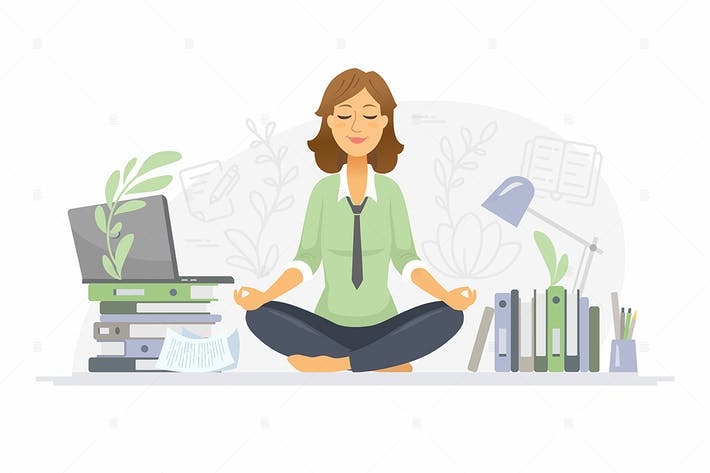 Thumbnail for Mindfulness at work - colorful illustration