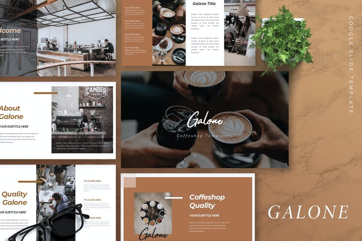 Thumbnail for GALONE - Coffee Shop Google Slides Template
