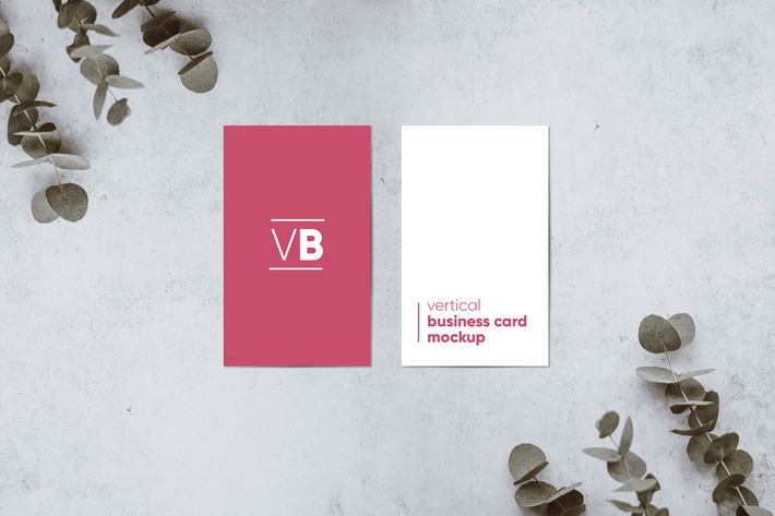 Thumbnail for Vertical Business Card Mockup