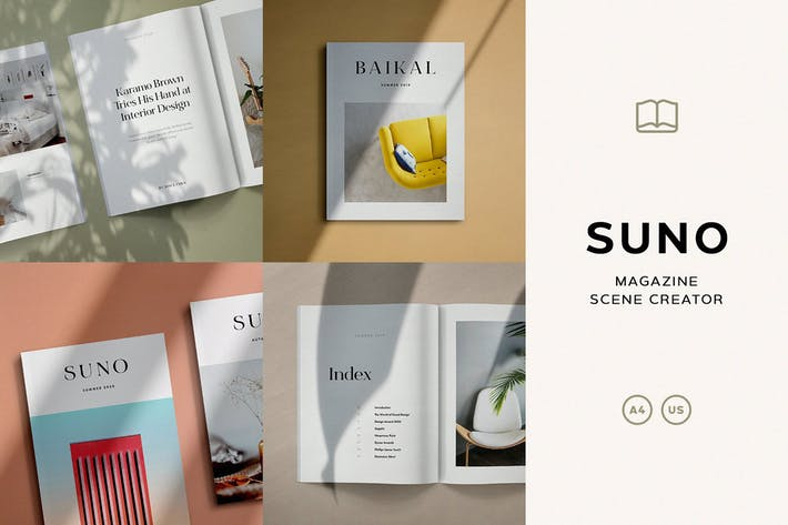 Thumbnail for Suno Magazine Mockup Kit