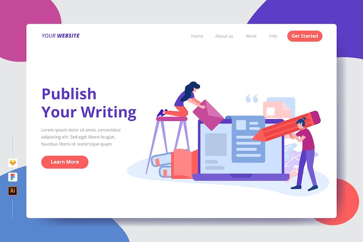 Thumbnail for Publish Your Writing - Landing Page