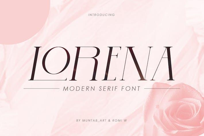 Thumbnail for Lorena | Modern Serif Font