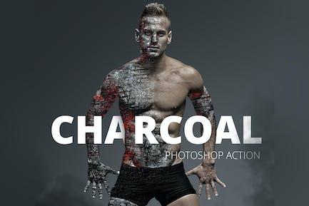 Acción de Photoshop de carbón