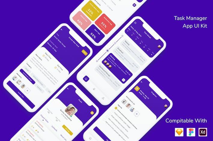Thumbnail for Task Manager App UI Kit