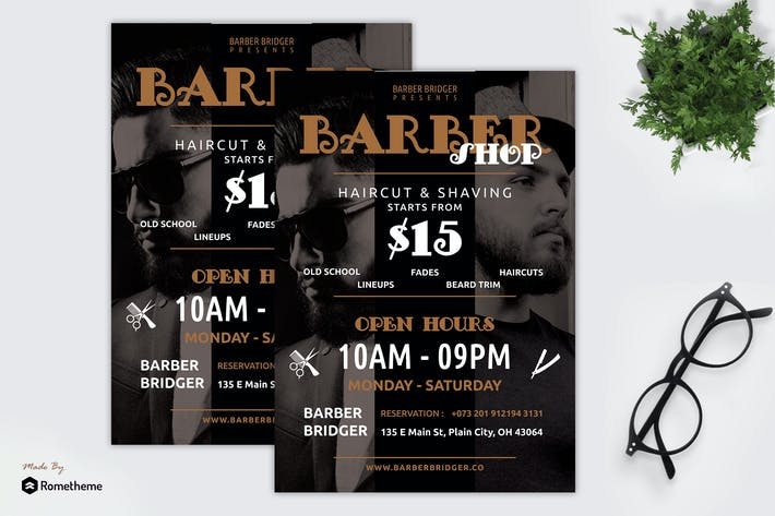 Cover Image For Beard - Barbershop Promotion Flyer RY