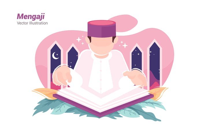 Thumbnail for Recites Quran - Vector Illustration