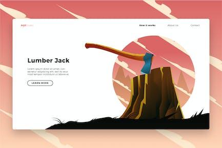 Lumber Jack Banner & Landing Page
