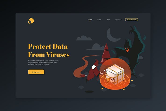 Thumbnail for Protect Data From Viruses - Isometric Landing Page