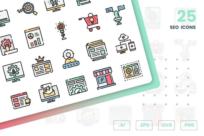Thumbnail for SEO Icons Set