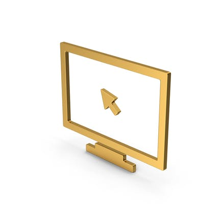 Symbol Monitor With Arrow Gold