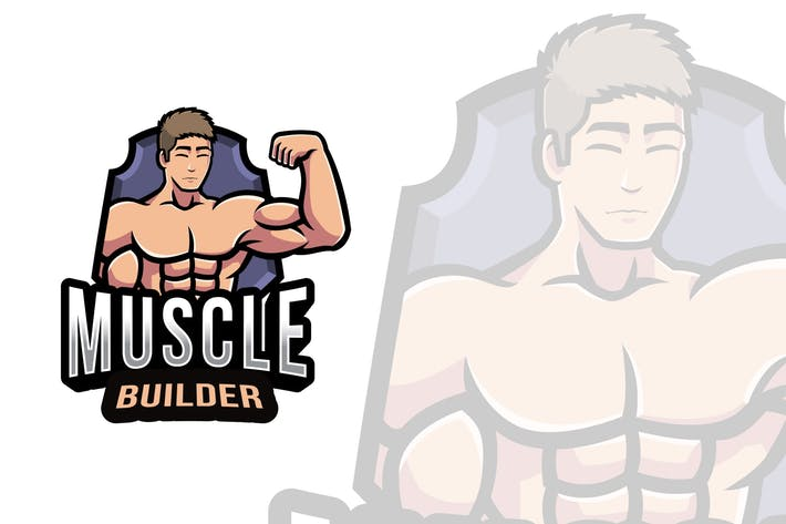 Thumbnail for Muscle Builder Logo Template