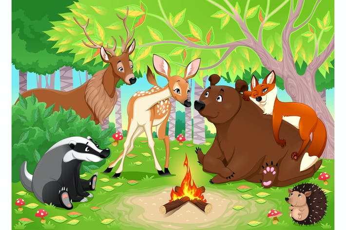 Thumbnail for Animals Stay Together in the Wood