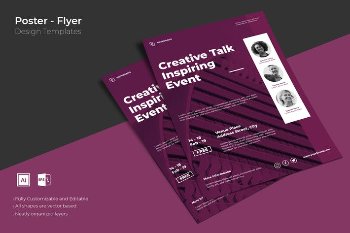 """Download 3,923 Vector """"poster"""" Print Templates (Page 3)"""