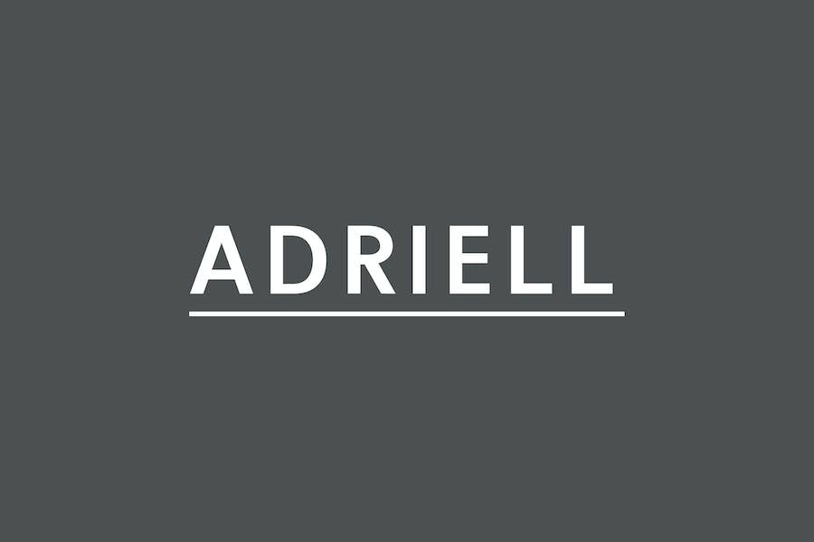 Adriell Sans Fuentes serif Familia