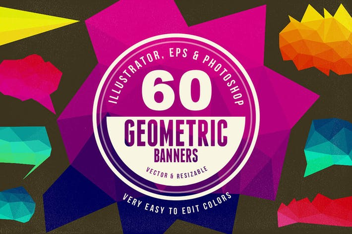 Thumbnail for 60 Geometric Banners